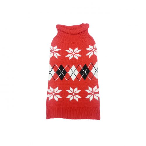 ARGYLE SNOW FLAKE SWEATER FRT1