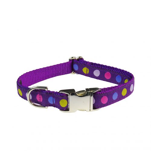 POLKA DOT PURPLE MULTI MED LCR