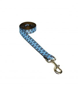 PUPPY PAW BLUE LG LEASH