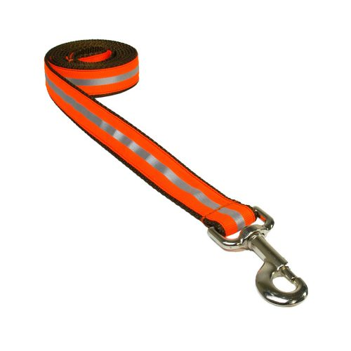 REFLECTIVE ORANGE BROWN S-L LEASH