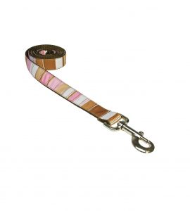 STRIPES BROWN MULTI S-L LEASH