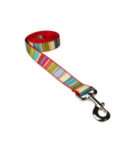 STRIPES RED MULTI S-L LEASH