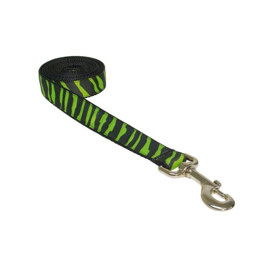 ZEBRA GREEN S-L LEASH