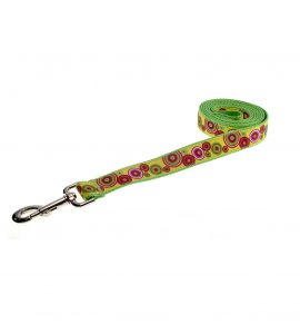 GROOVY DOT GREEN MULTI S-L LEASH